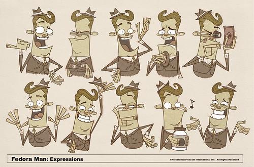 Fedora Man Expressions
