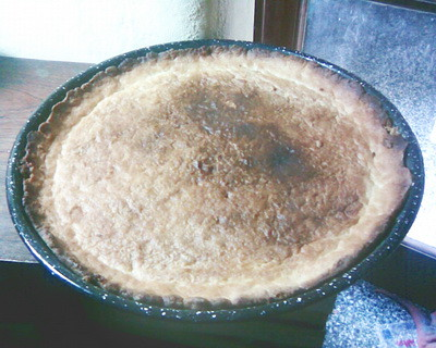 tarta de duraznos