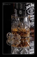 Jack Daniels (Samantha Nicol Art Photography) Tags: old ice glass reflections studio jack lights mirror bottle nikon crystal tennessee whiskey alcohol daniels whisky samantha sour bourbon mash nicol sammikins1976 samanthanicolartphotography