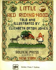 cross stitch (lorryx3) Tags: red illustration vintage golden crossstitch little books scan riding hood redridinghood childrensbooks goldenbooks littlegoldenbooks