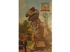 Antique postcard: Sinclair dinosaur exhibit, 1964 World's Fair (Baltimore Bob) Tags: old newyork dinosaur reptile antique postcard worldsfair sinclair 1964 tyrannosaurus