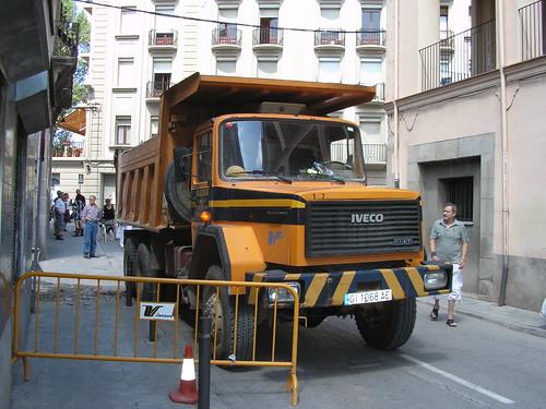 Iveco bolquet a unes obres de Ripoll (Girona)