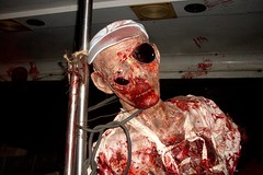 Dead Guy on Tram (Gentleman of Sophistication and Refinement) Tags: tram universalstudios deadguy halloweenhorrornight