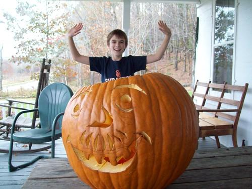 Jumping out o pumpkin