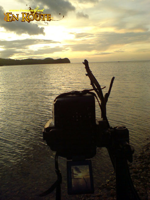 Shooting the sunset at Boquete Island