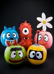 Yo Gabba Gabba Pumpkins (pairadocs) Tags: halloween gourds pumpkin design tv paint character painted nick yo pumpkins cartoon craft gourd characters custom 2008 becki plex gabba nickjr muno nickelodean foofa yogabbagabba pairadocs toodee brobee pairadocsdesignlab apoxiesculpt