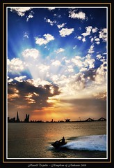 sunset muharraq corniche