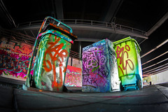 """filfthy Gangsta's"" (Sander Copier) Tags: street urban color art colors trash graffiti paint utrecht colours tag tags can spray bin fisheye tokina marker copier vies sander prullenbak vuilnis afval vuil platinumphoto"