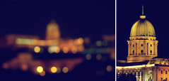 budapest (alejoooo) Tags: leica light two building castle history night vintage diptych hungary bokeh budapest sight ungarn magyarorszg fz50 dyptych