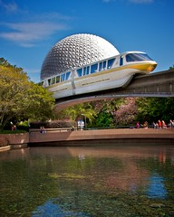 Epcot - Monorail - Your Highway in the Sky (Matt Pasant) Tags: usa apple water norway epcot mac aperture florida wed disney explore countries morocco transportation mickeymouse orangecounty wdw waltdisneyworld figment epcotcenter mgmstudios i4 waltdisney spaceshipearth worldshowcase futureworld wdi lakebuenavista imagineer monrail dodgeandburn yearofamilliondreams canon40d waltereliasdisney disneyphotochallengewinner monorailgold worldmickey resortmonorail
