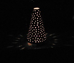 Let there be light ..... and warmth. (fyrrylikka) Tags: light lamp finland tin warmth perforated