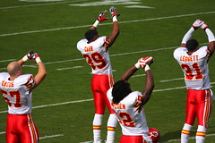 Kansas City Chiefs stretching