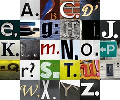Punctuated letters