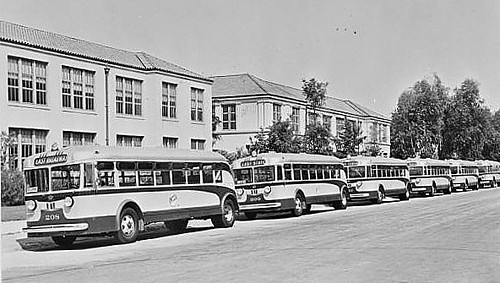 Lang Motor Bus Co. at School MTA 0026