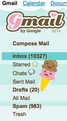 love, Love, LOVE! my girly gmail theme