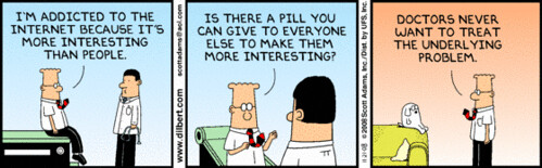 dilbert addicted to the internet