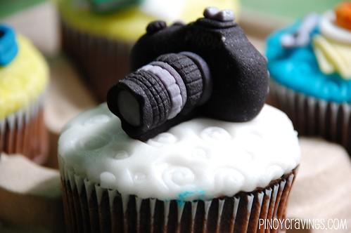 Nikon Camera Cupcake Fondant