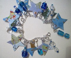 Stars in Blue (Jupita) Tags: glass stars recycled funky jewelry charm card starbucks bead wearableart etsy recycle giftcard charmbracelet upcycle upcycled starbuckscard starbucksgiftcard trashion jupita starbucksjewelry starbucksgiftcardjewelry upcycledgiftcard recycledstarbucks