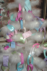 Ribbon Garland Tree (such pretty things) Tags: christmas pink decorations tree vintage aqua pastel stripes feather garland chain ribbon