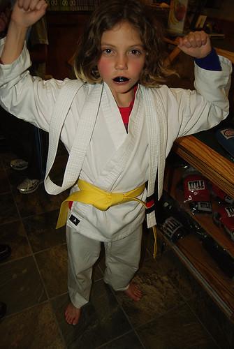 Grace Earns Her Yellow Belt