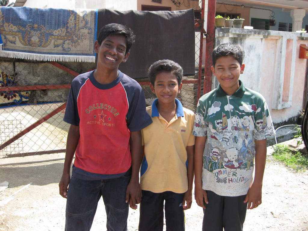 Ibrahim, his brother and a friend