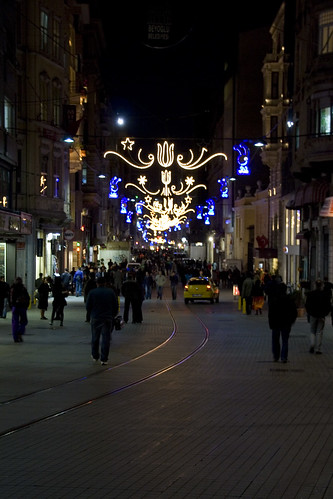 Istiklal Street is the most famous street in Istanbul.