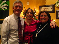 Dean, Kelly and Jeni after dinner