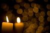 L'Avent, 2ème bougie (La Belle Lumière) Tags: christmas xmas advent candle bokeh noël lumieres bougie avent