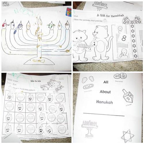 Kindergarten Chanukah activities