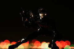 Mr. Poseable (katsuboy) Tags: black matrix japan toys japanese bokeh sony christmaslights robots highdefinition guns expensive figures hidef kaiyodo bluray nebuchadnezzar poseable revoltech jfigure ultimatematrixcollection christmasbokeh nebakanezer assembleborg veryposeable