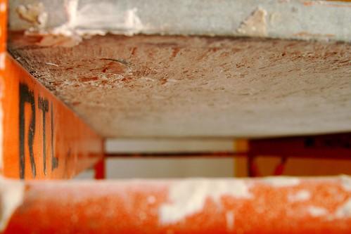 orange and white scaffolding