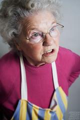 Nanna (Jordan Green) Tags: old pink grandma woman green cooking canon hair 350d grey glasses sweet working sigma apron jordan jumper nan wrinkles washing nanna pinney 2470mm 430ex