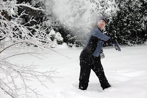 Kris Throws a Snowball