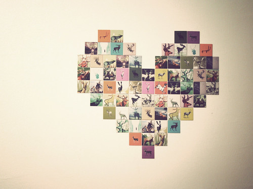 Alfa img - Showing Heart Shaped Photo Collage Template