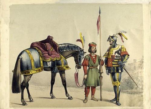 016-Rico hombre y su paje de lanza 1530
