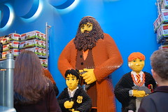 Lego Harry Potter, Hagrid, and Ron Weasley