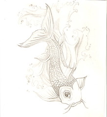 Koi Fish (Silent Orchestra) Tags: fish animal sketch drawing koi koifish silentorchestra laughlovehope koidrawing koisketch koifishdrawing koifishsketch