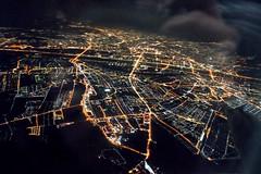 Night Vienna from sky (Kanzelsberger) Tags: vienna sky berlin night sony air flight airbus dslr dusseldorf a319 a350