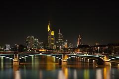 Skyline Frankfurt (fotoman-jens) Tags: skyline canon frankfurt dri hdr nachtaufnahme ffm fotoman 40d