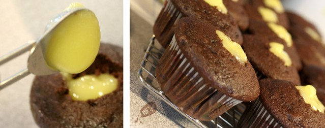 Chocolate Cupcakes: Filled with lemon