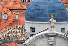 Church of St. Blaise, Dubrovnik (Mini Mel) Tags: roof church croatia dubrovnik ragusa hrvatska dalmatia patronsaint rooves stblaise svetivlaho
