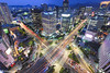Euljiro view (Seoul) (renan4) Tags: road city travel blue roof light building tower cars rooftop night dark nikon asia cityscape view top south korea panoramic hour seoul nikkor ways 1224mm renan 서울 gicquel d80 euljiro rooftoping renan4