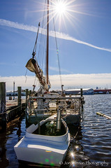 """The """"Rebecca T. Ruark"""" and her push boat (Jon Wittman Photography) Tags: cambridge boat wooden nikon maryland places processing sail oyster nikkor f4 vr afs chesapeakebay dx lightroom workboat 1635mm d90 skipjack lr5 rebeccatruark lightroom5 jonwittmanphotography"""