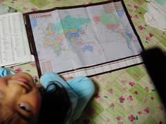 世界地図だよ