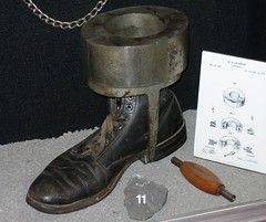 foot constraint (haven't the slightest) Tags: ontario canada history riot bars escape lock military guard cell kingston prison crime weapon jail torture shackles punishment cuffs capitalpunishment prisoner inmate rmc jailhouse penitentiary confinement royalmilitarycollege federalprison prisoncell prisonguard