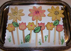 Spring has sprung (mommawants1more) Tags: flowers cookies kids daisies tulips chocolate treats playdates cutoutcookies