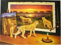 Paradigm Shift (Bo Newell) (Leonisha) Tags: puzzle cheetah jigsawpuzzle gepard