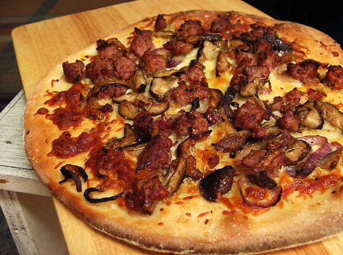 Sausage, Red Onion, and Wild Mushroom Pizza