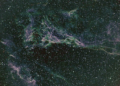 Wedge portion of Veil Nebula in narrow band