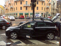 Google's Street View car (aboca) Tags: street camera city italy milan car hardware google europe googlemaps view maps laser sick astra streetview opel